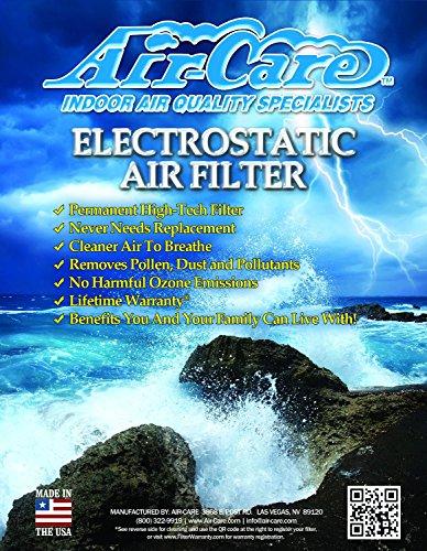 air-care 20x 24x 1シルバーElectrostatic Washable Permanent A / C炉エアフィルタ94%