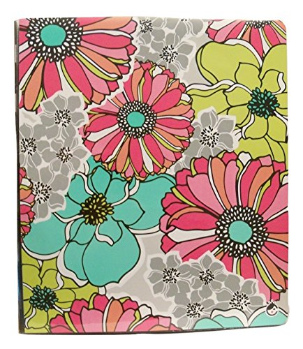 carolina-pad-studio-c-1-o-ring-vinyl-binder-with-pockets-whimsical-flower-floral-collage-10-x-11-5