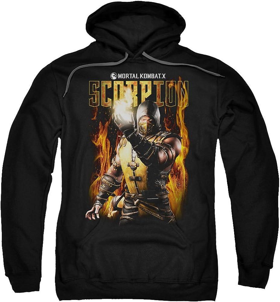 Trevco Mortal Kombat Scorpion Adult Pull Over Hoodie Black