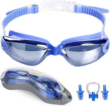 Gafas de Natación Antiniebla Nadar Gafas Gafas de protección UV para Adulto Ajustable Nuevo