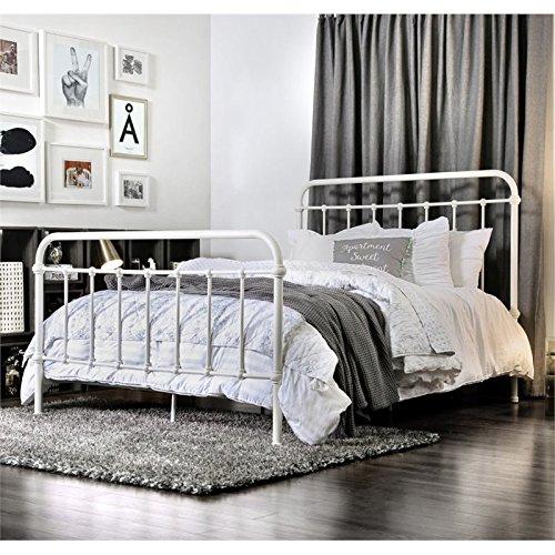 Furniture of America Celinda Twin Metal Spindle Bed in Vinta