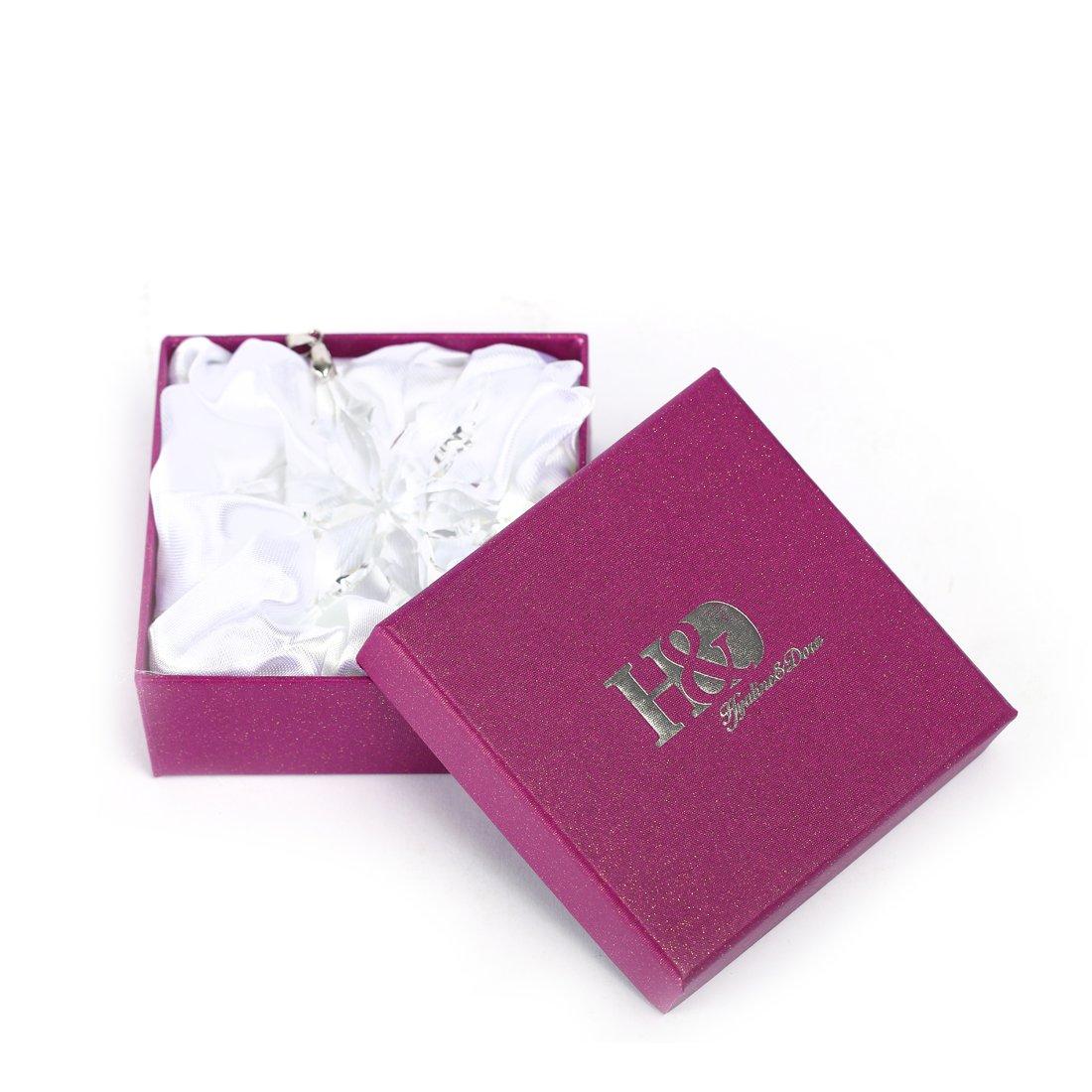 Amazon.com: H&D Christmas Crystal Star Snowflake Ornament Decoration ...