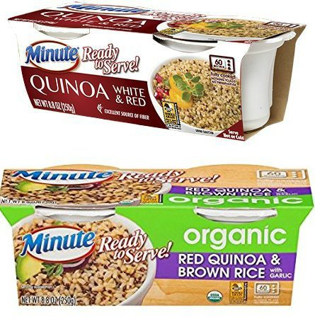 Minute Ready to Serve White & Red Quinoa + Organic Red Quinoa & Brown Rice, 2 Cups (Pack of 4)