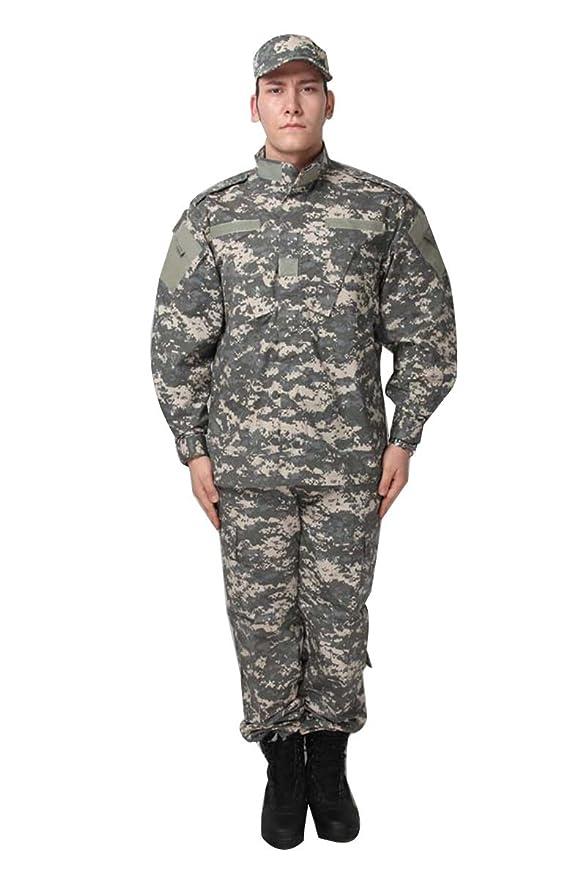 Amazon.com: Juego de uniforme militar de camuflaje, abrigo + ...