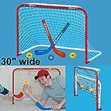 EZGoal Mini Folding Goal with 2 Sticks and 3 Balls, Red/White