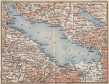 Bodensee Rundum Lindau Konstanz St Gallen Bregenz Topo Map