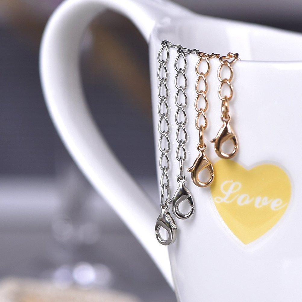 ounona 8pcs acciaio inossidabile estensione catena catena estensioni per collana in acciaio inox gioielli collana argento bianco oro giallo verlaenger catene