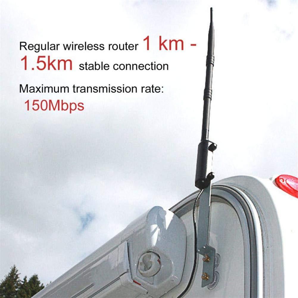 redshooeYY Amplificador de señal inalámbrico l Aire Libre 2.4G WiFi Rocket de Alta Potencia 15DBI Antena Wireless-N Adaptador USB Accesorios de Red a Prueba ...