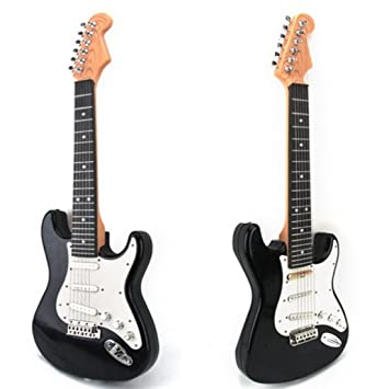 Amazon.com: Guitar Toy, PINCHUANGHUI Children Simulation Music Guitar Cool Musical Instruments Educational Toy(3713) - Black + White: Musical Instruments