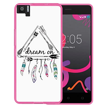 WoowCase Funda Bq Aquaris M5, [Bq Aquaris M5 ] Funda Silicona Gel Flexible Dream On, Carcasa Case TPU Silicona - Rosa