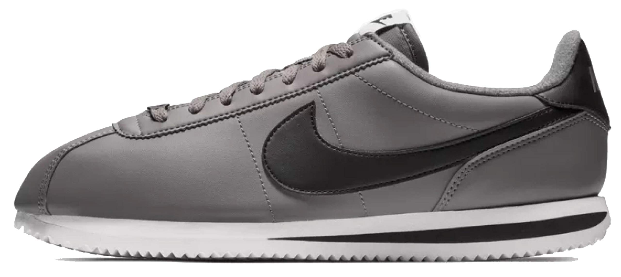 buy online bddb6 11766 Galleon - Nike 819719-004  Cortez Basic Leather Gunsmoke Black White  Sneakers (10.5 D(M) US Men)