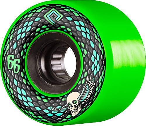 (Powell-Peralta Snakes 66mm 75A Green Skateboard)