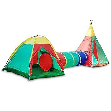 Children Play Tent Adventure Tipi Igloo Tunnel Set  sc 1 st  Amazon UK & Children Play Tent Adventure Tipi Igloo Tunnel Set: Amazon.co.uk ...