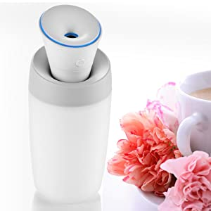 Quiet Cool Mist Humidifier, Versatile and Portable Air Humidifier with Micro USB Charge for Home, Yoga, Office, Spa, Bedroom, Baby Room (No Essential oil Please)