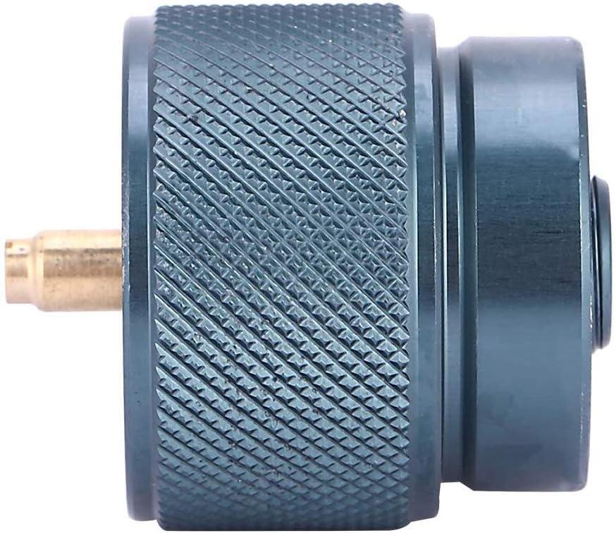 hudiemm0B Gas Tank Adapter Outdoor Travel Camping Gas Stove Refill Adapter for MAPP Cylinder Tank Burner