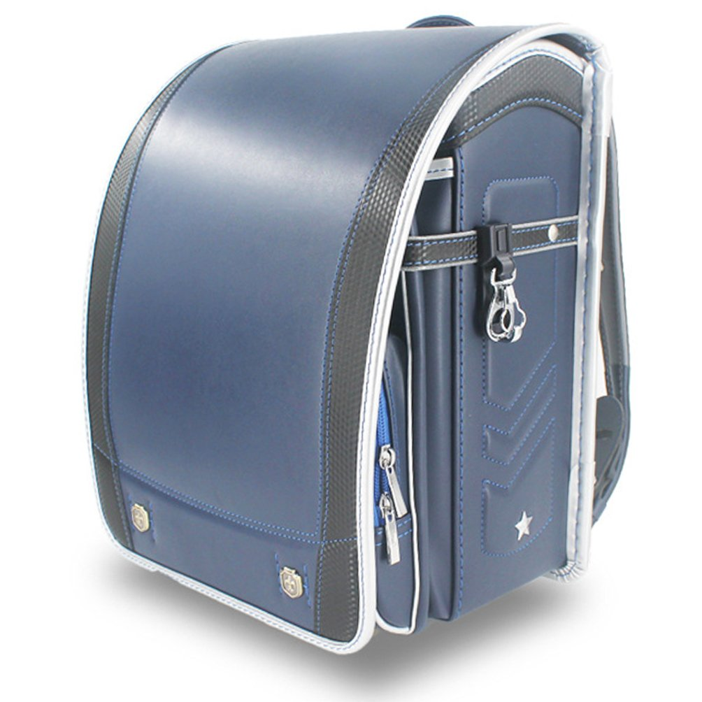 Ransel Randoseru upscale prince Japanese school bags for girls and boys Navy blue by Baobab's wish