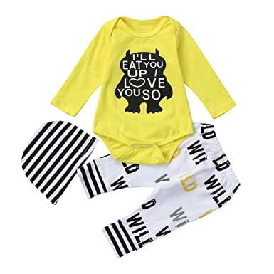 f9d4db7ab Voberry Fashion Newborn Infant Baby Girl Boy Letter Print Autumn ...