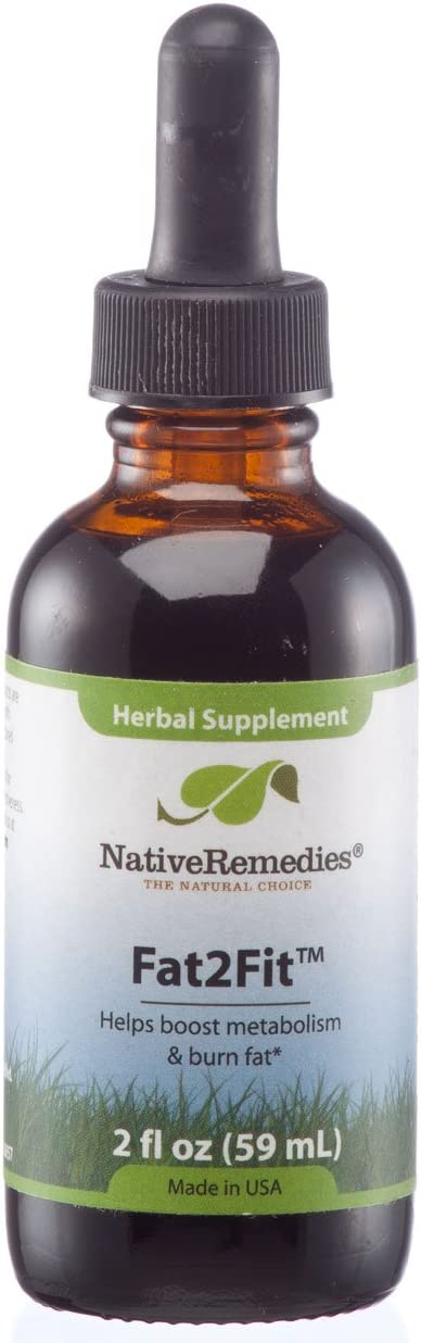 Native Remedies Fat2Fit – All Natural Herbal Supplement for a Healthy Metabolism and Additional Support for Healthy Weight Loss Programs – 59 mL