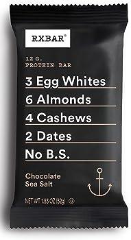24-Count RXBAR Chocolate Sea Salt 1.83oz Whole Food Protein Bar
