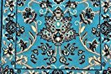 Unique Loom Kashan Collection Turquoise 2 x 3 Area