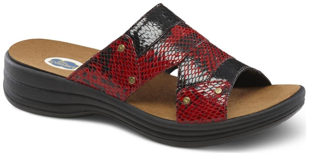 Dr. Comfort Women's Karen Red Sandals