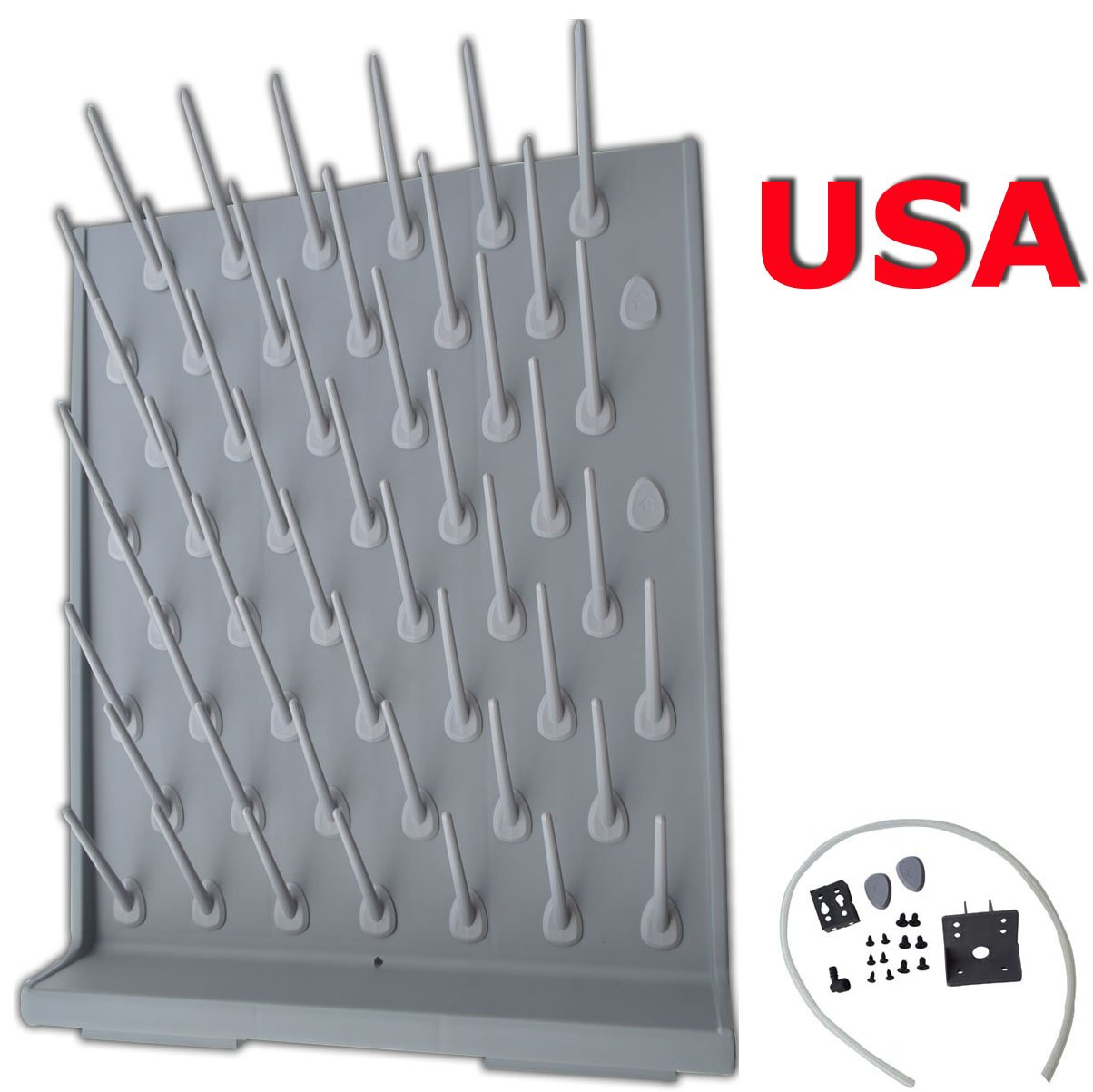 Brand New Lab Supply Wall Desk Drying Rack 52 Pegs Education&lab Science Use