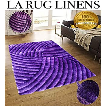 Amazon Com Dark Purple Deep Purple Shaggy Shag Area Rug 5