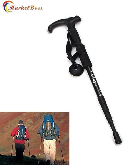 Telescopic Trekking Walking Hiking Stick Pole Adjustable Length Anti-Shock TOP