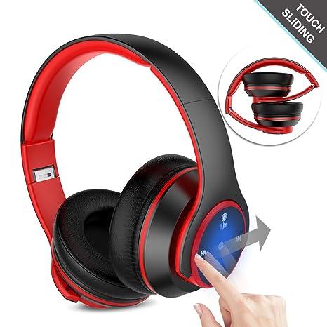 Navtour Auriculares de Diadema Bluetooth 4.0 También Lleva Cable Casco de Diadema Cerrados Plegable Estéreo con