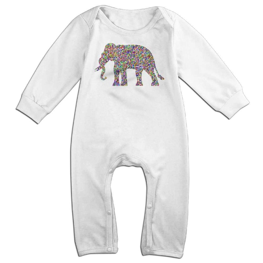 Mri-le1 Baby Boy Jumpsuit Chromatic Triangular Elephant Baby Clothes