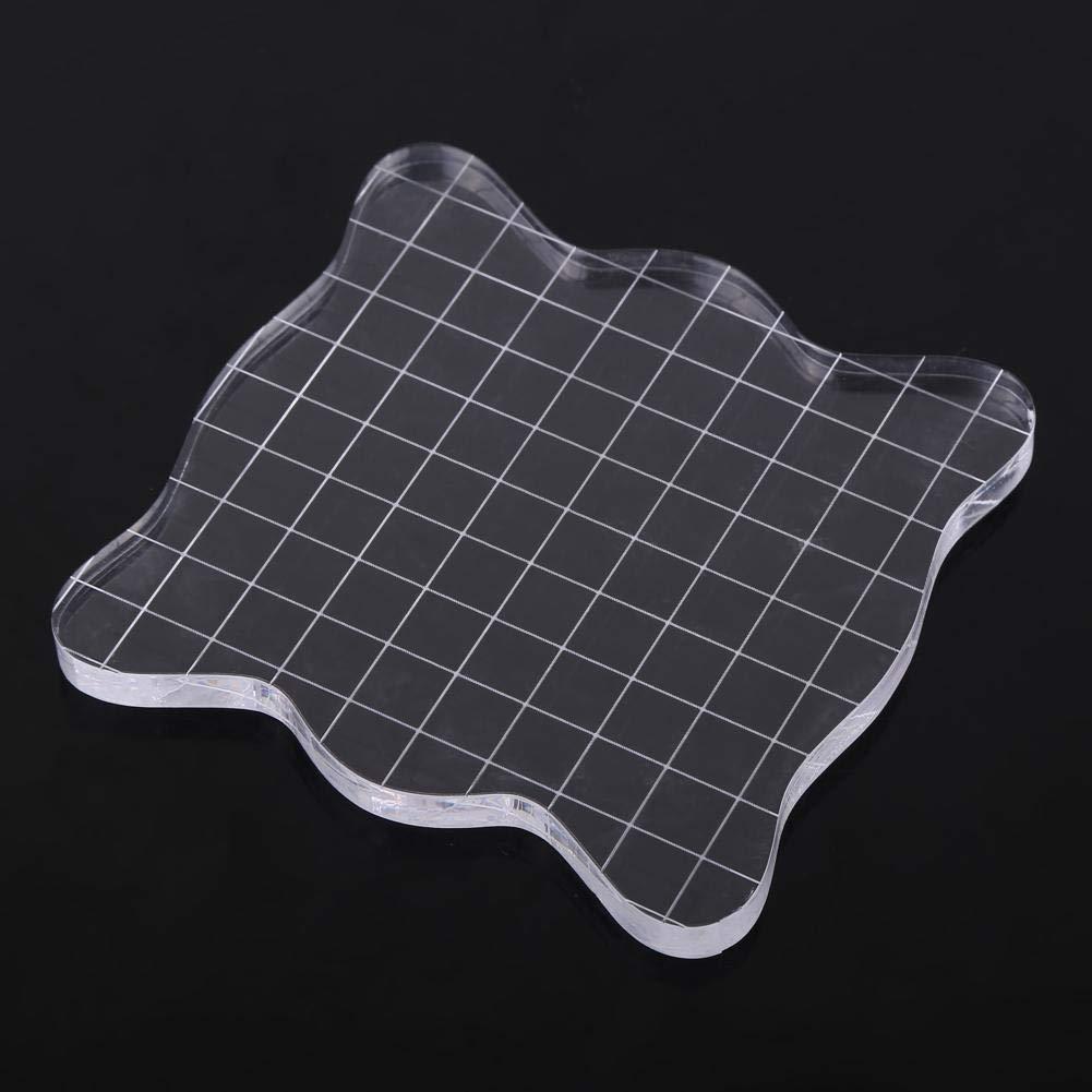 tama/ños variados para la fabricaci/ón herramientas de bloques de estampado transparente de acr/ílico para la fabricaci/ón de tarjetas de Scrapbooking Crafts 5 * 5cm Bloque de sello de acr/ílico
