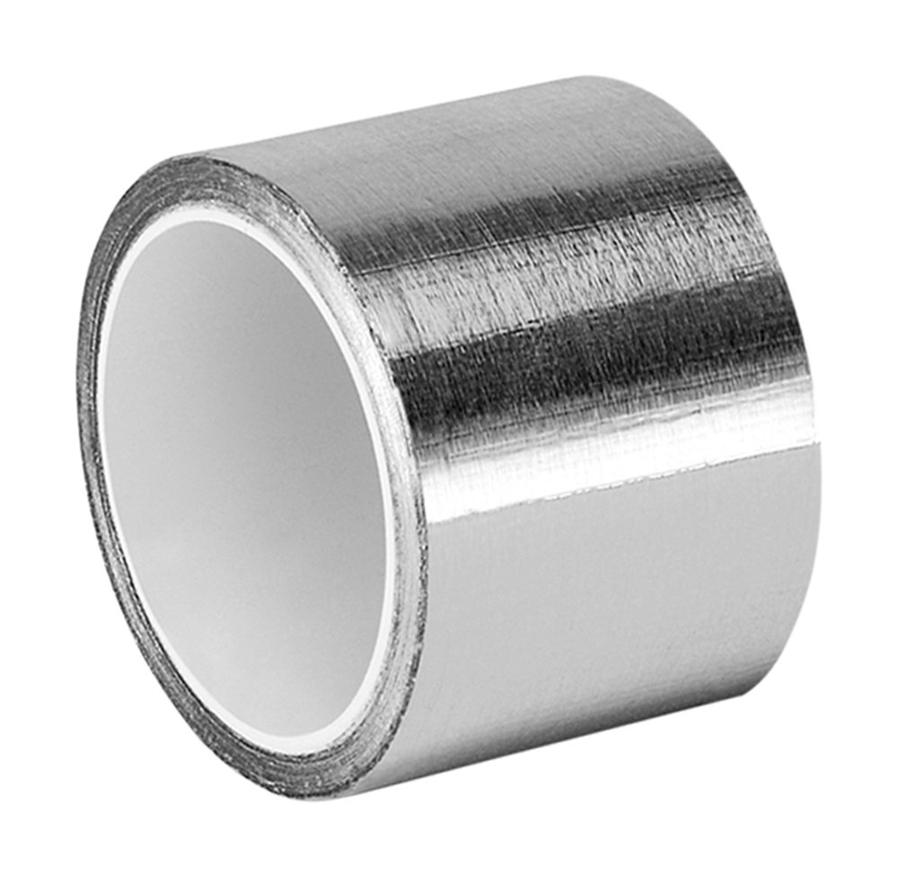 TapeCase 1.5-5-438 Silver High Temperature Heavy Duty Aluminium/Acrylic Adhesive Foil Tape, 1.5' x 5 yd Roll, 0.0072' Thickness, 5' Length, 1.5' Width 1.5 x 5 yd Roll 0.0072 Thickness 5 Length 1.5 Width