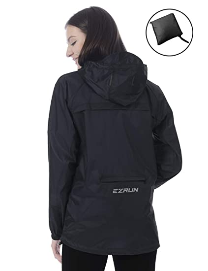 e292c0bf6 EZRUN Women's Waterproof Hooded Rain Jacket Windbreaker Lightweight  Packable Rain Coats