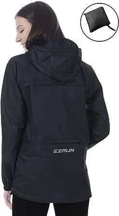 Women's Waterproof Hooded Rain Jacket Windbreaker Lightweight Packable Rain Coats