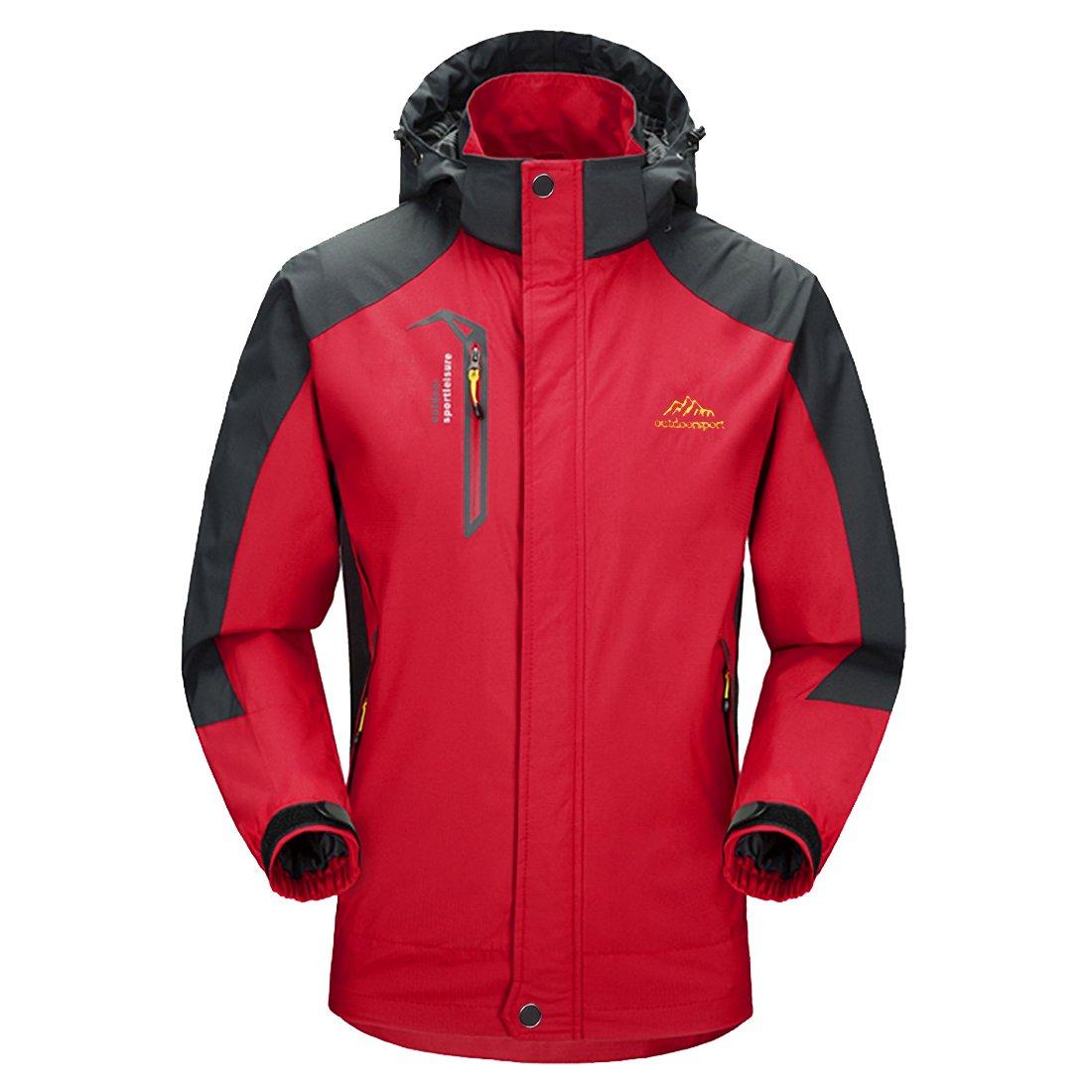 MICKYMIN Waterproof Jacket Mens Raincoats Outdoor Casual Hooded Lightweight Softshell Hiking Windproof Travel Rain Jackets