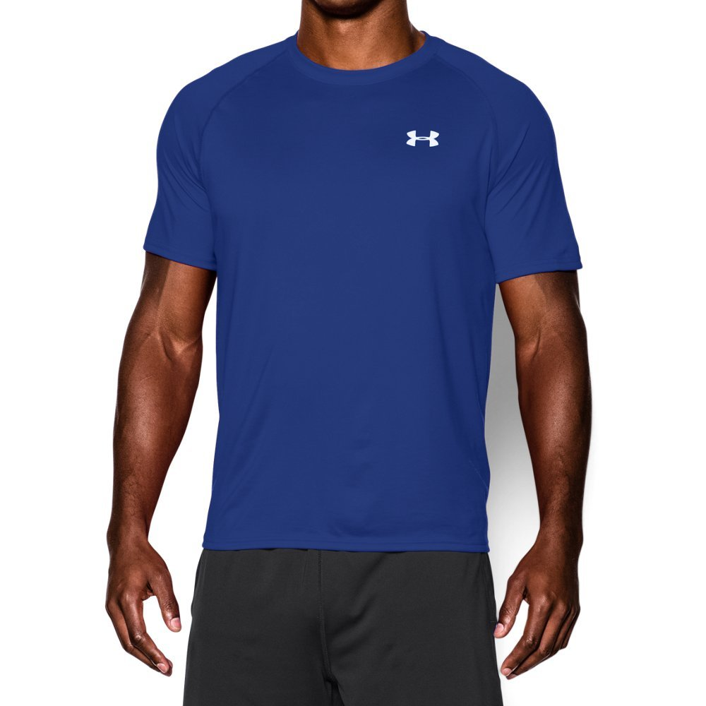 Under Armour Men's Tech Short Sleeve T-Shirt, Royal /White, XX-Large Tall by Under Armour