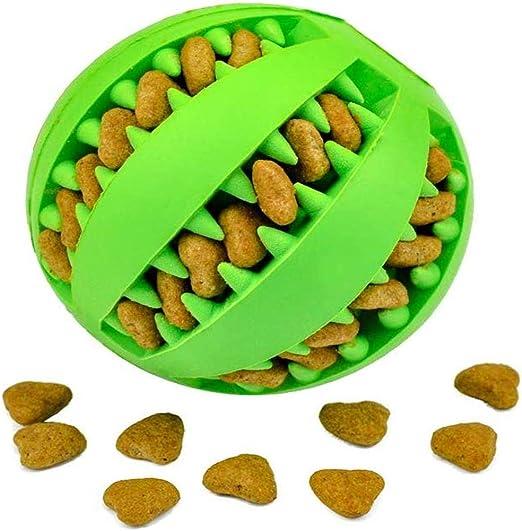 LAWARY Pets Dog Treat Toy Ball, Pelota de Goma para Comida de ...