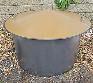 "Fire Pit Cover & Pit Liner Combo - 14"" Deep x 30"" Diameter"