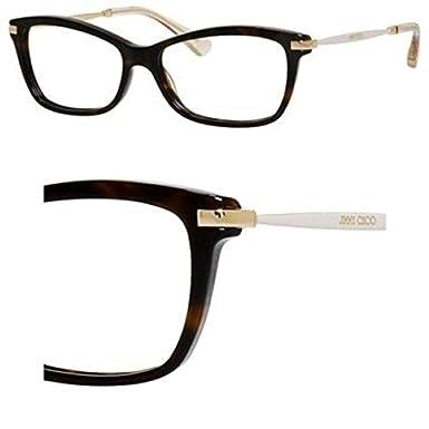 8617d69204af Amazon.com  JIMMY CHOO Eyeglasses 96 07VI Dark Havana Ivory Gold ...