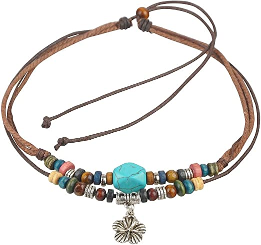 Wood Bead PhattyThick Unisex Natural Hemp Cord Cuff Bracelet