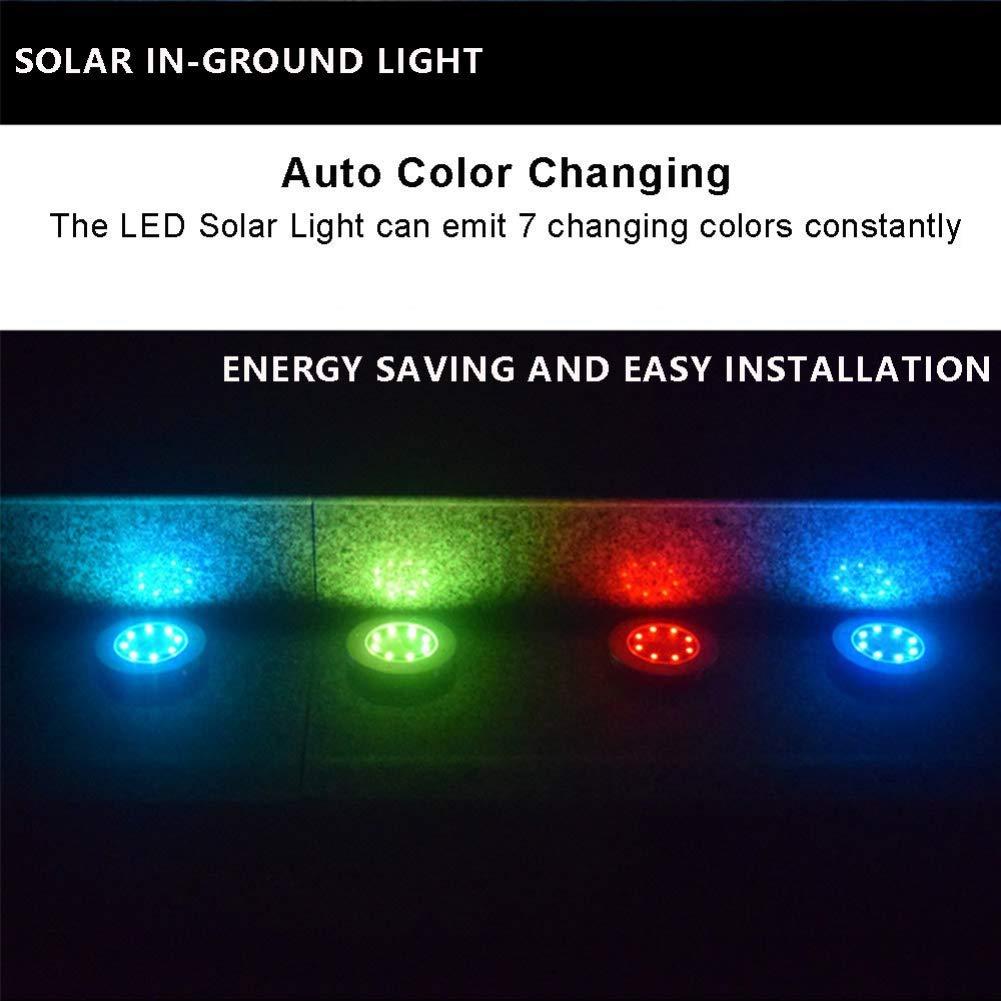 Stainless Steel Solar Powered LED Diamond Lights 4 Pack White//Multi-Colour