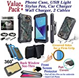 Value Pack + for 5.5'' Samsung Galaxy J7 Prime On Nxt On7 Prime Case Holster Phone Case 360° Cover Screen Protector Back Window Stand Shock Armor (Camo Solid)