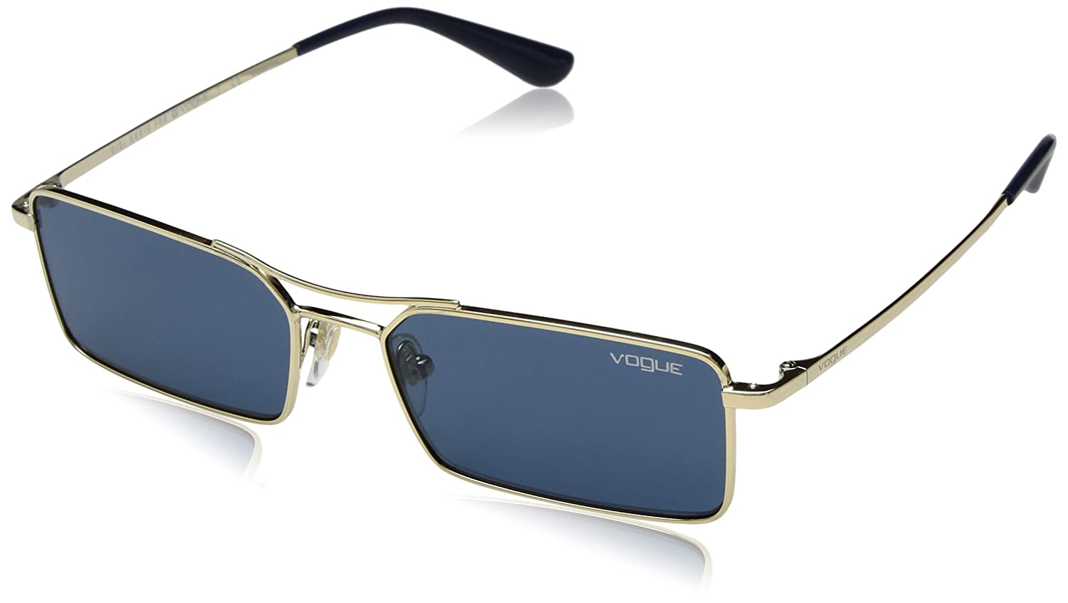 66e52ca4c4 Amazon.com: VOGUE Women's 0vo4106s Rectangular Sunglasses, Gold, 55 mm:  Clothing