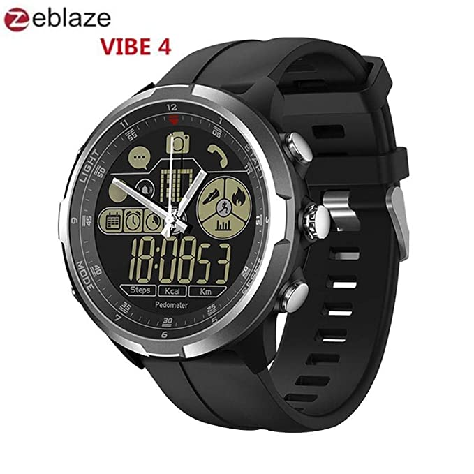 Amazon.com: Zeblaze Vibe 4 Hybrid Smart Watch - 1.24-Inch ...