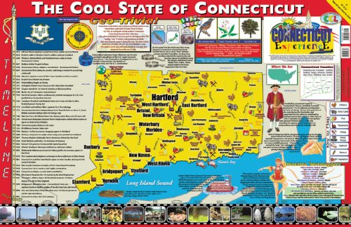 Connecticut State Bird Flower - Gallopade Publishing Group 22 x 34 Inches The Connecticut Experience Poster/Map (9780793395842)
