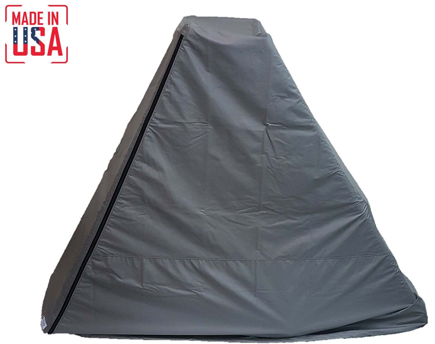 The Best Elliptical Machine Cover | Front Drive. Heavy Duty Fitness Equipment Protective Covers Ideal for Indoor or Outdoor Use. Made in USA with 3-Year Warranty. (Grey, Small Extra Tall)
