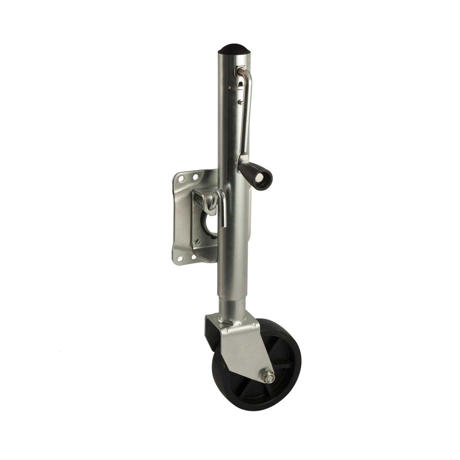 Koch Industries 4250220 Trailer Marine Tailer Jack, Bolt-On Swivel 1,000-pound Lift Capacity, Sidewind, 10 Travel, Mounting Hardware Included, 6-inch Wheel