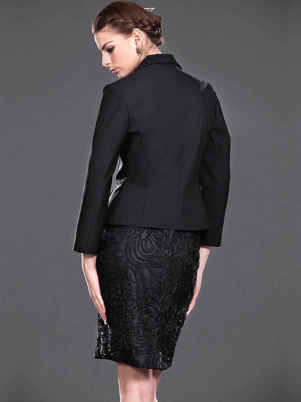 Jspoir Melodiz Women's Short Sheath Satin Mother of the Bride Dress with Jacket