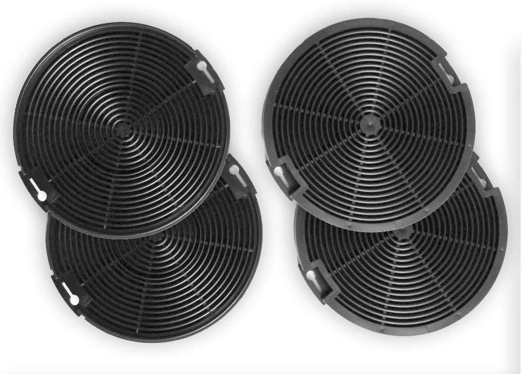 Keen Berk 4 x Filtro de carbón 15 Cm redondo – extractoras de filtro de repuesto para aspiradoras AEG eléctrico Lux eff75 – EFC60151, EFC90151, efg50022, efg7390, efg750, EFP50637, EFP6500, EFP6500, efp9500: