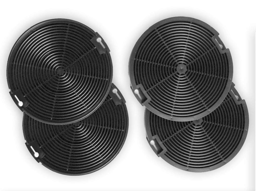 Keen Berk 4 x Filtro de carbón 15 Cm redondo - extractoras de ...